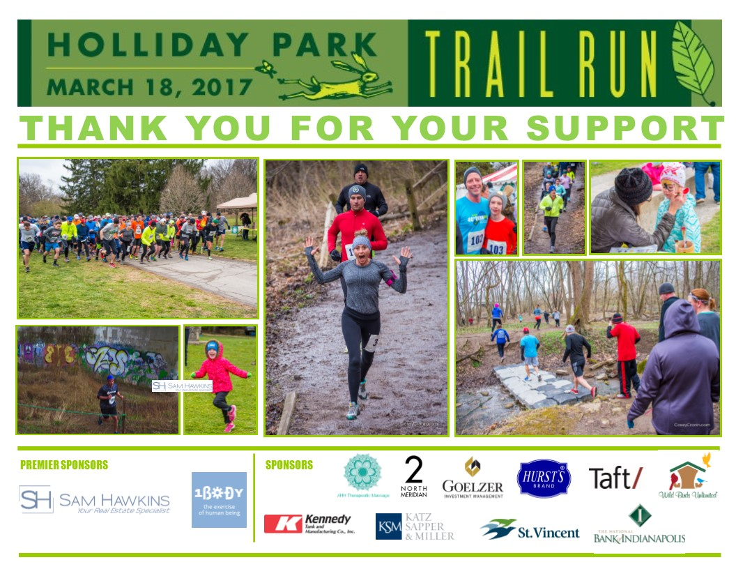 Photos and Sponsor Logos from 2017 Trail Run